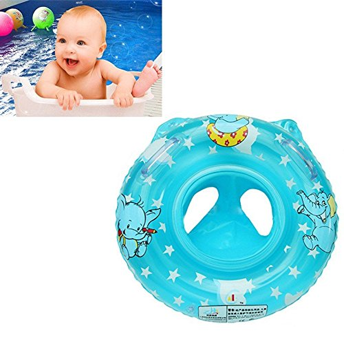 2016 Most Popular child&baby Inflatable Safety Seat Float Ring Raft Chair Pool Swimming Toy with Handle,useful&funny in the bathtub at home Blue/Pink