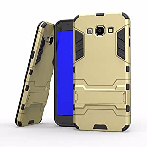 mStick Metallic Kickstand Hybrid Desk Stand Golden Color Back Cover Case For Galaxy A8