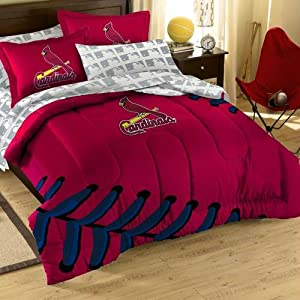 St. Louis Cardinals MLB Embroidered Full Size Comforter with Shams