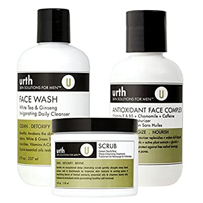 Urth Skin Solutions For Men Perfect Complexion Kit For Oily Skin 3pc Set by Urth