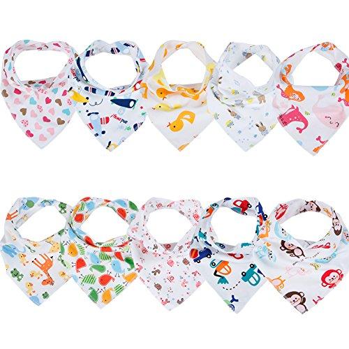 Baby Dreieckstuch Lätzchen Spucktuch 10er Pack (A)