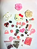 Hello Kitty 3D Phone Case/covers Deco Kit / Set,Make you own 3D cute phone/Pink -----by beautycasediy