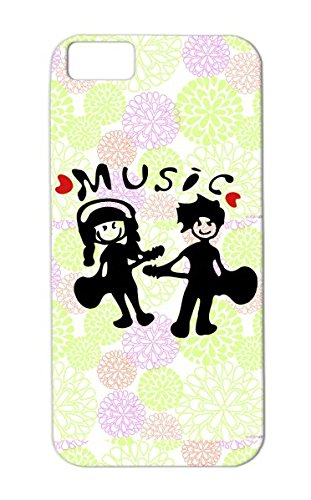 Music Cute Female Man Cool Red Heaert Miscellaneous Male Headphones Concert Instruments Guitarist Music Graphic Girl Boy Guitar Instruments Instrument Line Art Illustration Male Cool Instrument Guitarist Awesome Musician Tpu Protective Case For Iphone 5C