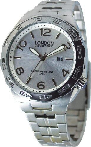 Silver Stainless Steel Watch by London Underground LU-262014-A