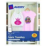 Avery T-shirt Transfers for Inkjet Printers, 8.5 x 11 Inches, Clear, 6 Sheets (03271)