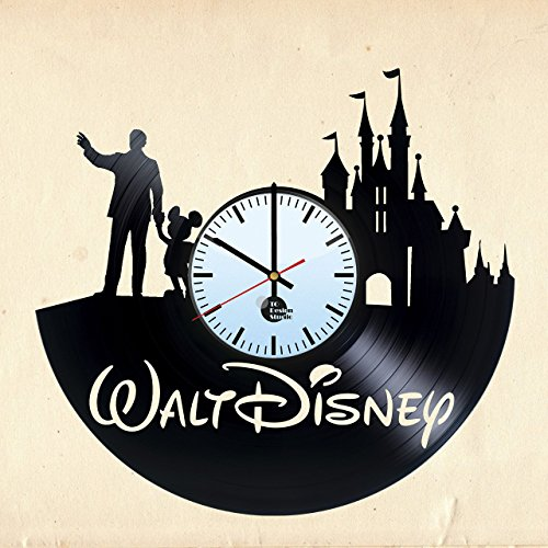 WALT-DISNEY-WORLD-HANDMADE-Vinyl-Record-Wall-Clock-Get-unique-nursery-wall-decor-Gift-ideas-for-children-baby-teens-kids-Disney-Unique-Art-Leave-us-a-feedback-and-win-your-custom-clock