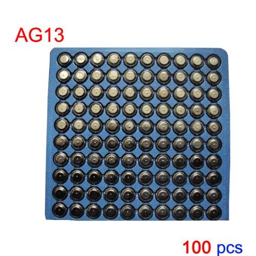 Maxsale New 100 Pcs Ag13 Lr44 357 A76 L1154 Sr44 Button Cell Battery