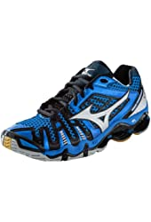Mizuno Men's Wave Tornado 8 Volleyball Shoes - Blue & Silver