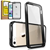 RINGKE FUSION® Apple iPhone 5 / 5S Case Bumper [BLACK] (NEW Release) Best Selling Shock Absorption Bumper + Anti Scratch Clear Back Premium Hybrid Case [Eco/DIY Pkg.] for iPhone 5S / 5