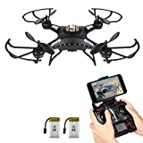 Drone with HD Camera, Potensic F183WH Altitude Hold 4CH Six-Axis RC Quadcopter Drone 2MP Camera Helicopter FPV 2.4GHZ Phone Quadcopter with WiFi, 360 Degree Rollover