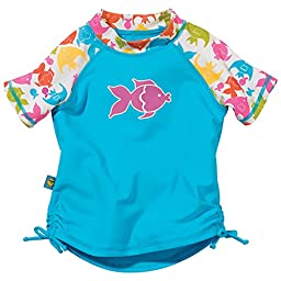 Tropical Fish Blue Short Sleeve Rash Guard by Sun Smarties, Size 18 Month