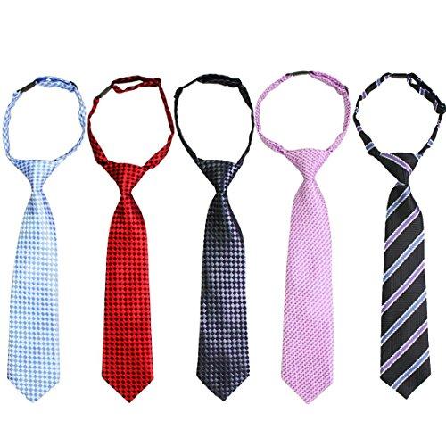 kilofly Pre-tied Adjustable Neck Strap Tie Boys Baby Necktie Value Set of 5 (Baby Boy Ties compare prices)