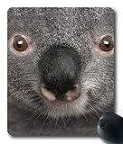 Grey Koala Face Custom Cloth Top Mouse Pad/Mouse Mat