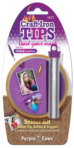 Purple Cows 5021 Artistic Craft Iron Solder Kit, Silver and Gold