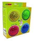 Edushape 4 See-Me Sensory Balls, Translucent, 4 Pack Color: Translucent (Baby/Babe/Infant - Little ones)