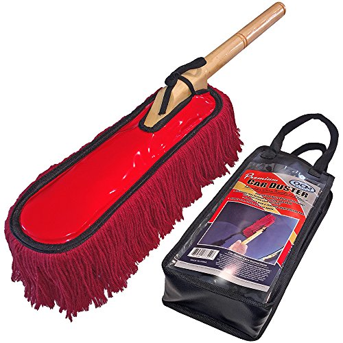 Premium Extra Large Car Duster with Durable Solid Wood Handle includes Storage Cover - Professional Detailers Top Choice (Auto Duster compare prices)