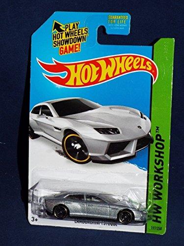 2014 Hot Wheels Hw Workshop: Lamborghini Estoque (Silver) - 1