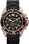 Michael Kors Watches Drake Black with Rose Gold