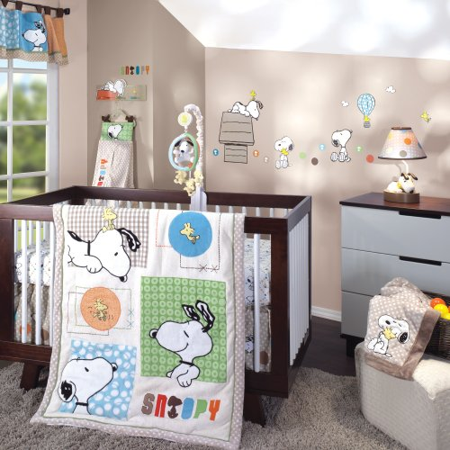 Lambs & Ivy Bff 5 Piece Bedding Set, Snoopy front-577170