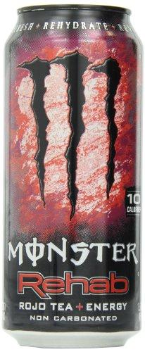 【アメリカ版・日本未発売】 モンスター リハブエナジードリンク Rojo Tea+クランベリー+エナジー 15.5オンス(439ml) 24本セット 【並行輸入品】 Monster Rojo Tea 15.5oz海外直送品・並行輸入品