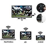 HDMI Streaming Media Player,GGMM® V-Linker 1080HDMI sans Fil EZcast Miracast AirPlay DLNA Wifi Affichage TV Dongle Wifi pour Partager Vidéos, Photos, Docs, Caméra en direct et de la musique de tous les dispositifs Intelligents à la Télévision, Moniteur ou un Projecteur