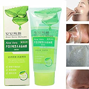 LuckyFine 100g Aloe Vera Black Head Acne Cleaner Deep Clean Purifying Peel Off Facial Mask