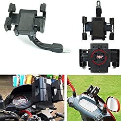 eShop24x7 Universal Bike Motor Cycle 360º Adjustable Secure Mobile Cell Holder Stand Mount Bracket for All Phones Smartphones Mobiles GPS PDA MP3 Player