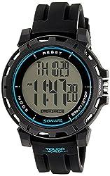 Sonata Ocean Series Digital Black Dial Mens Watch - 77037PP04