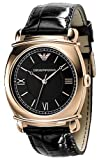 Emporio Armani Men Classics Leather Strap Watch