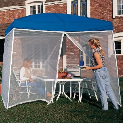 EZ UP ScreenRoom Screen For use W/ Sierra II instant shelter 10X10 (Screen Only & Screen Tent With Floor: EZ UP ScreenRoom Screen For use W/ Sierra ...