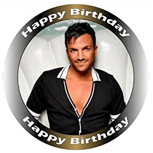 "Peter Andre Edible Birthday Cake topper Size 7.5""/190cm -Cake not supplied"