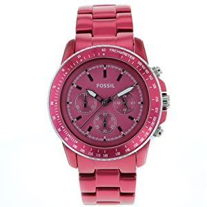 Fossil Aluminum Red Chronograph Women's Watch CH2709