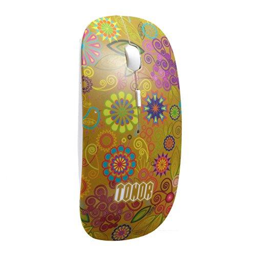 tonor-silenzioso-bluetooth-mouse-wireless-ottico-colorato-fiore-secreto-giardino-seriale-oro