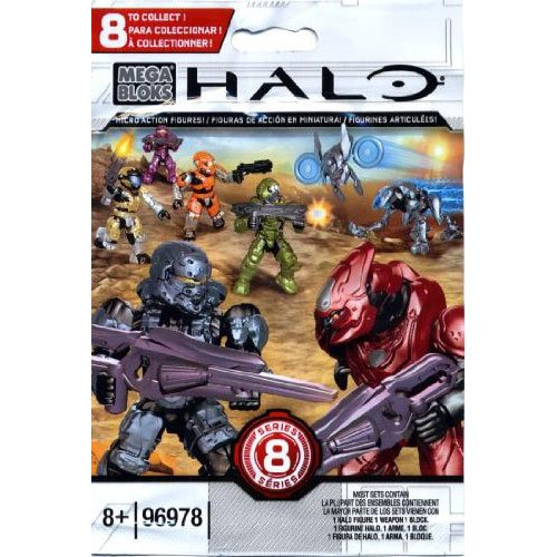 Halo Mega Bloks Series 8 Micro Action Figure Blind Bag Mini Figure - 1