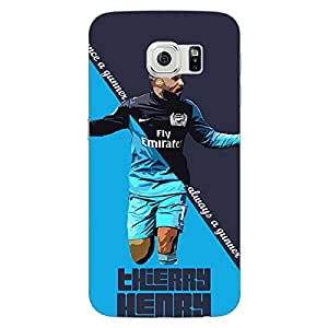 Jugaaduu Arsenal Therry Henry Back Cover Case For Samsung S6