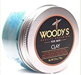 Woodys Quality Grooming For Men Clay Matte Finish, Firm Flexible Hold 3.4 Oz/ 96 Grms