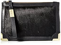 Foley + Corinna Frankie Wristlet Clutch, Black Hair Calf, One Size