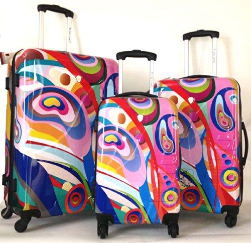 Dejuno 3 Pc Luggage Set Hard Rolling 4Wheel Spinner Carryon Travel Orbit front-292962