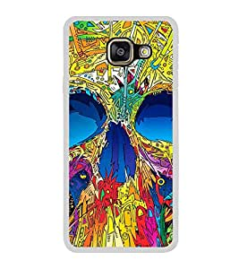 Colourful Skull 2D Hard Polycarbonate Designer Back Case Cover for Samsung Galaxy A7 (2016) :: Samsung Galaxy A7 2016 Duos :: Samsung Galaxy A7 2016 A710F A710M A710FD A7100 A710Y :: Samsung Galaxy A7 A710 2016 Edition