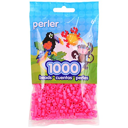 Perler Beads Magenta Bag