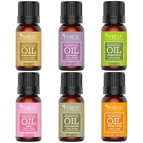 Purest-Naturals-Essential-Oils-Set-100-Pure-Therapeutic-Grade-Rose-Frankincense-Lavender-Ylang-Ylang-Lemongrass-Peppermint-Best-For-Oil-Diffuser-Massage-Aromatherapy-Focus-Meditation