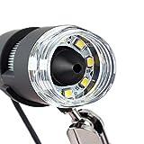 200X USB LCD Digital Microscope 5.0MP 8-LED Endoscope Electronic Lab Magnifer Camera