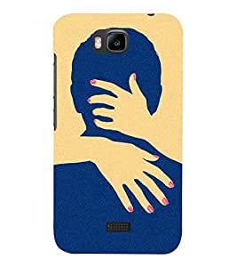 printtech Naughty Hands Face Back Case Cover for Huawei Honor Bee