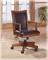 Big Sale Home Office Swivel Desk Chair in Brown Oak Finish