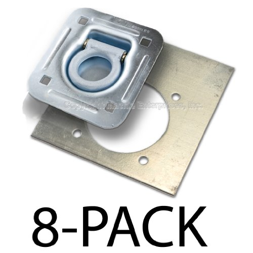 Recessed D-Ring 6,000 lb 6 pack Tiedown w// Backing Plate Cap