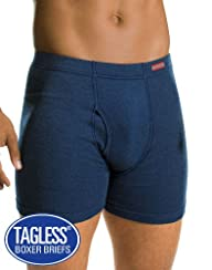 Hanes Men`s TAGLESS Boxer Briefs with…