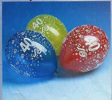 geburtstag geschenke 10 luftballons zahl 40 geburtstag luftballons party deko. Black Bedroom Furniture Sets. Home Design Ideas