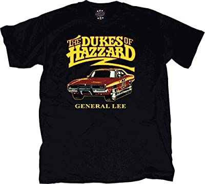 Dukes of Hazzard General Lee Car Black T-shirt Tee