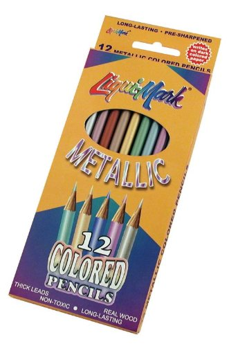 LIQUIMARK METALLIC COLORED PENCILS - SET OF 12