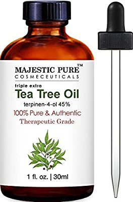Majestic Pure Tea Tree Oil, 100% Pure Essential Oil with 45% terpinen-4-ol, 1 fl. Oz